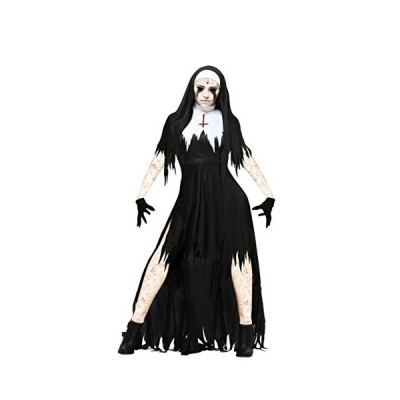 Women's Plus Size Dreadful Nun Costume 2X Black,White[並行輸入品]