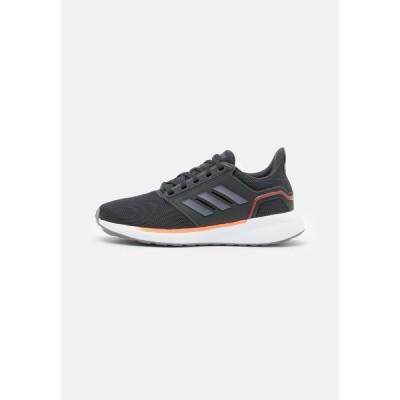 アディダス シューズ メンズ ランニング EQ19 RUN - Neutral running shoes - carbon/grey/solar red