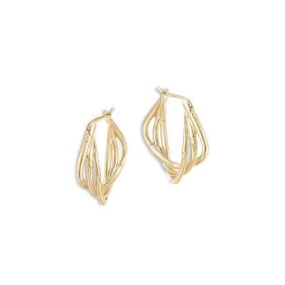 ジョン・ハーディー レディース ピアス・イヤリング アクセサリー 18K Yellow Gold Bamboo Twist Hoop Earrings