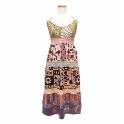 ynnab エスニックヒッピーワンピース (Ethnic change hippie dress) ユンボ ユンブ 044808【中古】