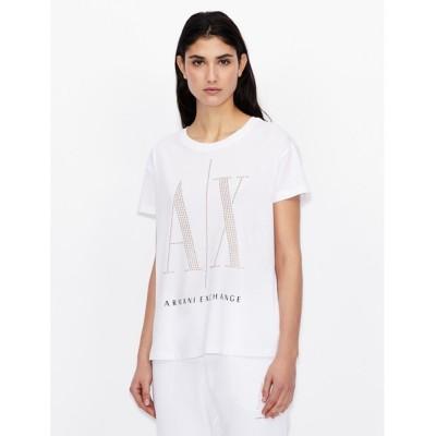 tシャツ Tシャツ 【A|Xアルマーニ エクスチェンジ】スタッズICON 半袖Tシャツ/BOY FIT