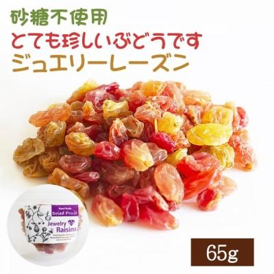 ドライフルーツ レーズン 65g ポイント消化 ジュエリーレーズン 砂糖不使用 ぶどう ブドウ 干しブドウ 無糖 小分け ギフト チャック付き EYトレーディング