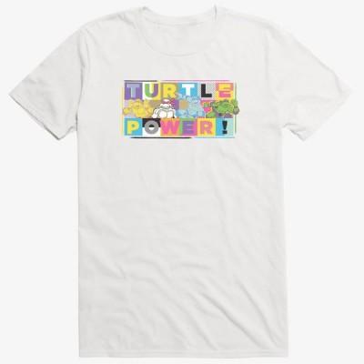 Anime ニンジャタートルズ Tシャツ Turtle Power Pastel T-Shirt メンズ