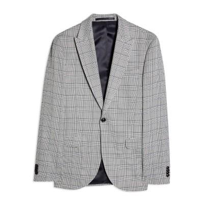 TOPMAN テーラードジャケット グレー 36 R ポリエステル 65% / レーヨン 34% / ポリウレタン 1% テーラードジャケット