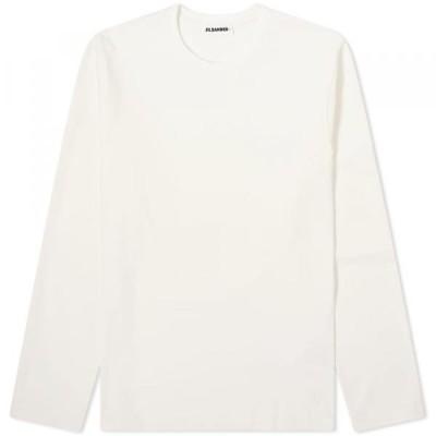 ジル・サンダー Tシャツ 長袖 トップス メンズJil Sander Jil Sander+ Long Sleeve TeeAntique White