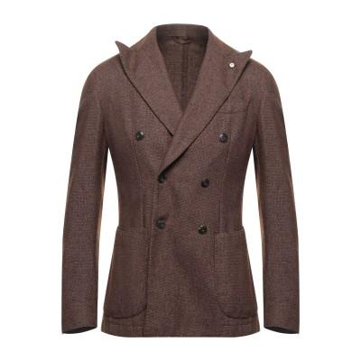 BRANDO テーラードジャケット ブラウン 48 ウール 47% / ポリエステル 39% / コットン 14% テーラードジャケット