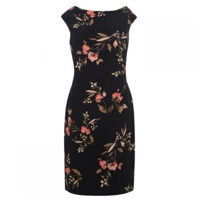 ラルフ ローレン Lauren Ralph Lauren Occasion レディース ワンピース ワンピース・ドレス Novellina Cap Sleeve Dress Black Multi