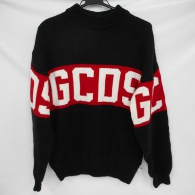 Ot147325 GCDS メンズセーター Lサイズ ウール50% アクリル50% ブラック 中古【質みなみ・大手門店】