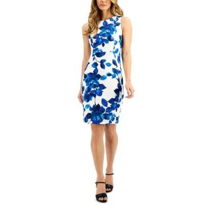 カルバンクライン レディース ワンピース トップス Floral Sheath Dress