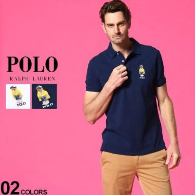 ポロラルフローレン メンズ ポロシャツ POLO RALPH LAUREN ポロベア 刺繍 半袖 鹿の子 ブランド トップス コットン RL710792901