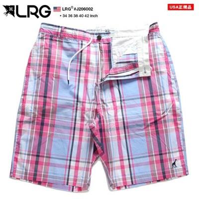 エルアールジー LRG ハーフパンツ チノパン ショートパンツ ショーツ 半ズボン かっこいい おしゃれ ピンク ライトブルー チェック柄 柄パンツ ビッグシルエット