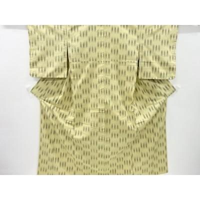 リサイクル 絣柄織り出し手織り節紬着物