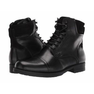 スティーブ マデン メンズ ブーツ・レインブーツ シューズ Rawson Boot Black Leather