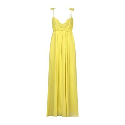 ドンダップ DONDUP 7分丈ワンピース・ドレス ビタミングリーン 44 コットン 100% 7分丈ワンピース・ドレス