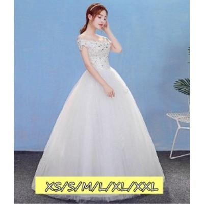 ウェディングドレス 結婚式ワンピース 花嫁 ドレス 高級刺繍 ファッション レディース 体型カバー aライン ロング丈ワンピ-ス