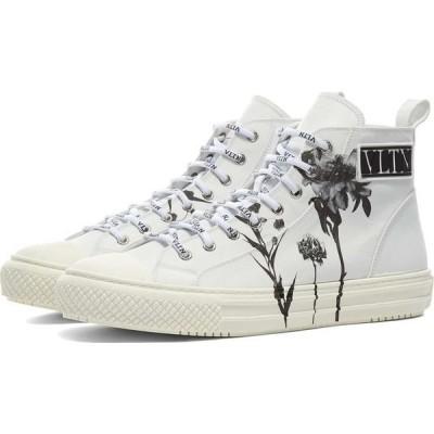 ヴァレンティノ Valentino メンズ スニーカー シューズ・靴 x inez & vinoodh flower printed bounce sneaker White/Black