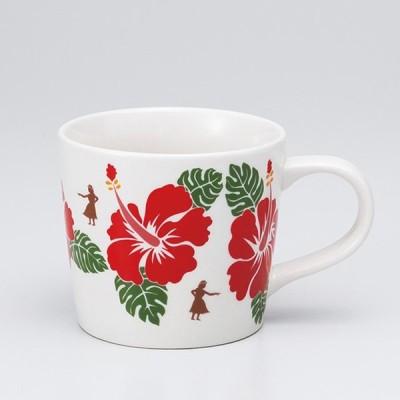 和食器 ハワイアン マグカップ ハイビスカス カフェ コーヒー 紅茶 珈琲 お茶 オフィス おうち 食器 陶器 おしゃれ うつわ