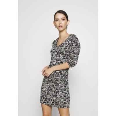 レディース ジャージドレス ONLINA DRESS - Jersey dress - black/pumice stone