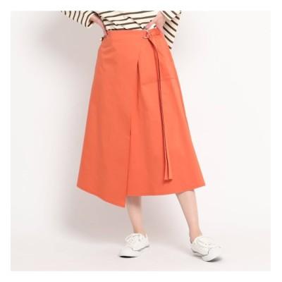 【デッサン/Dessin】 【S~L】コットンサテンラップ風スカート