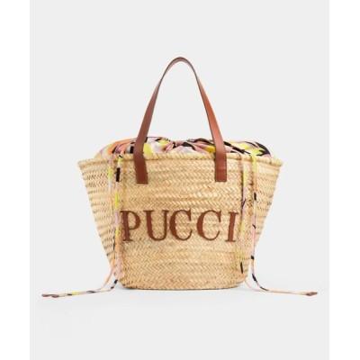 EMILIO PUCCI / BUCKET BAG - PALM STRAW WOMEN バッグ > かごバッグ