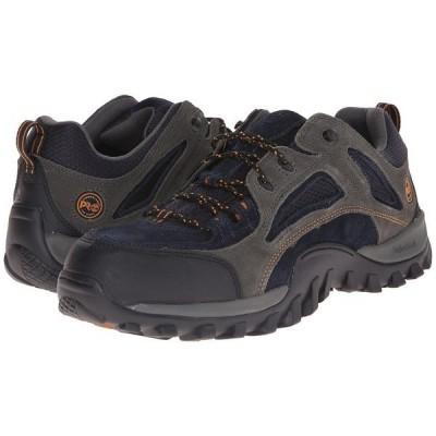 ティンバーランド スニーカー メンズ Mudsill Low Steel Toe Titanium/Sapphire Leather With Mesh