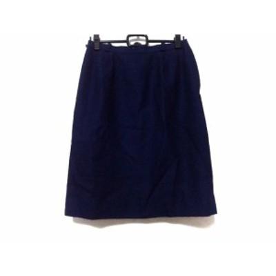 レリアン Leilian スカート サイズ13 L レディース ネイビー【還元祭対象】【中古】20200526