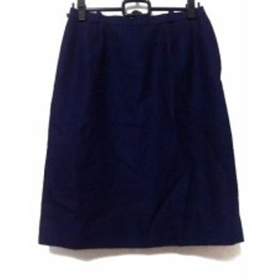 レリアン Leilian スカート サイズ13 L レディース ネイビー【中古】20200526