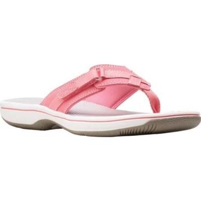 クラークス Clarks レディース ビーチサンダル シューズ・靴 Breeze Sea Flip Flop Bright Pink Synthetic