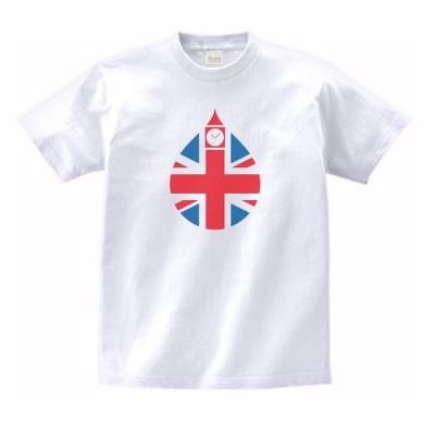 イギリス 水滴 デザイン・アート Tシャツ