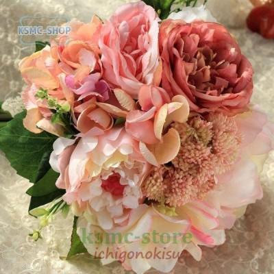 ウエディングブーケ ブートニア 安い 結婚式 ウェディングブーケ 花嫁 アレンジメント 披露宴 ウェディング用 造花 ブライダルブーケ 手作り
