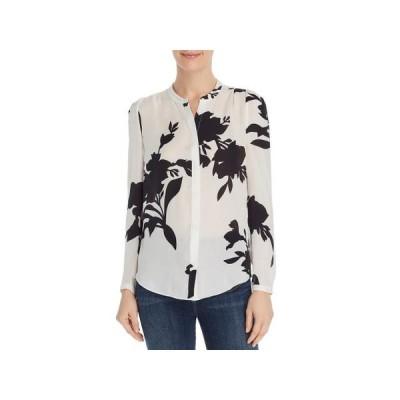 レディース 衣類 トップス Joie Womens Silk Button-Down Top Black-Ivory XXS ブラウス&シャツ