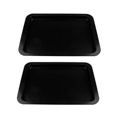 定期的なオーブントースターオーブン用2個アイアンベーキングシートノンスティックベーキングトレイクッキーベーキングシートハーフシートパンテフロン加工の耐