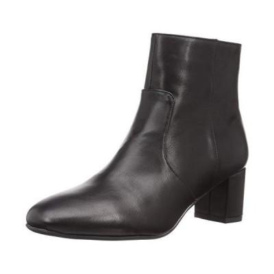 [オリエンタルトラフィック] ブーツ レディース スクエアトゥ 美脚 ヒール 大きいサイズ 小さいサイズ 歩きやすい 1415 BLACK