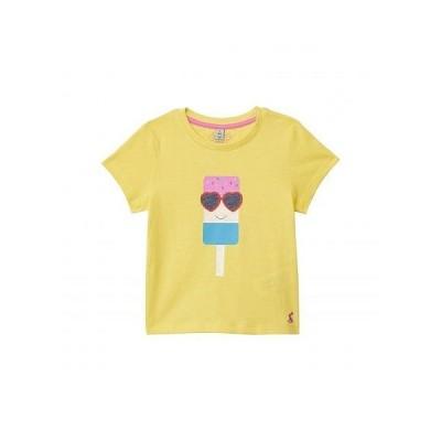 Joules Kids 女の子用 ファッション 子供服 Tシャツ Pixie T-Shirt (Toddler/Little Kids/Big Kids) - Yellow Lolly
