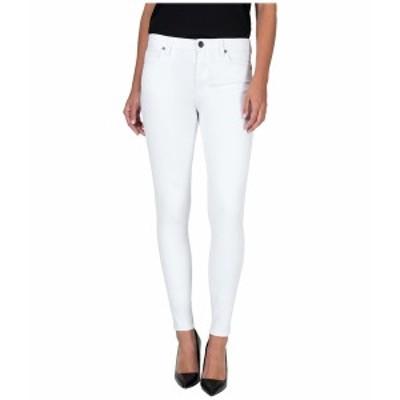 カットフロムザクロス レディース デニムパンツ ボトムス Mia High-Rise Toothpick Skinny Jeans in Optic White Optic White