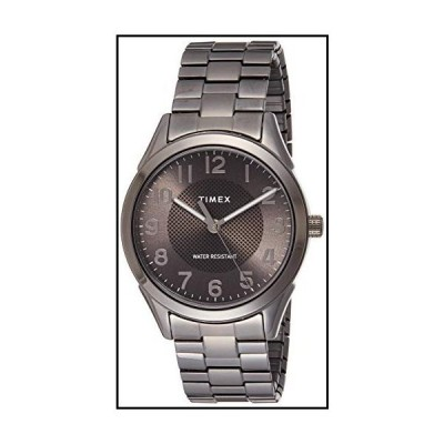 【新品】Timex Men's Briarwood TW2T46000 Grey Stainless-Steel Japanese Quartz Dress Watch