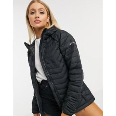 コロンビア レディース ジャケット・ブルゾン アウター Columbia Powder Lite hooded jacket in black Black