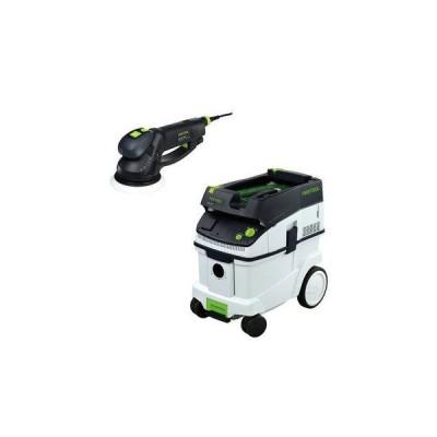 "FESツール(フェスツール) RO 150 FEQ 6"" Dual Mode Rotex サンダー with T-Loc + CT 36 Dust Extractor"