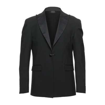 I'M BRIAN テーラードジャケット ブラック 52 ポリエステル 53% / ウール 43% / ポリウレタン 4% テーラードジャケット