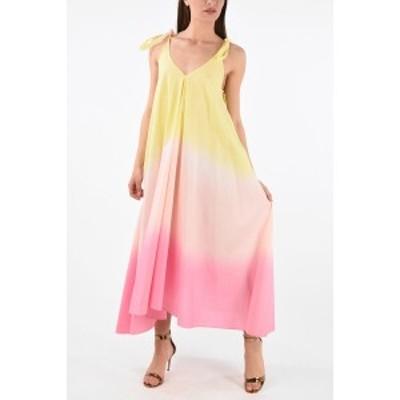 ALANUI/アラヌイ Yellow レディース Cotton Tie Dye Sleeveless Flared Dress dk