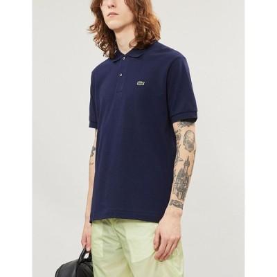 ラコステ LACOSTE メンズ ポロシャツ トップス Logo-embroidered cotton-pique polo shirt NAVY BLUE