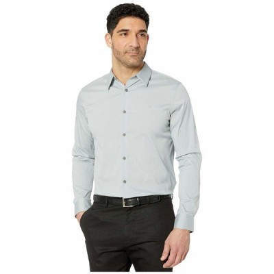 カルバンクライン シャツ トップス メンズ The Stretch Cotton Shirt Quarry