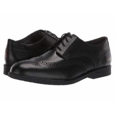 Hush Puppies ハッシュパピーズ メンズ 男性用 シューズ 靴 オックスフォード 紳士靴 通勤靴 Shepsky Wing Tip Oxford Black【送料無料】