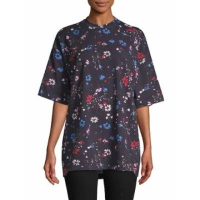 バレンシアガ レディース トップス シャツ Floral Boyfriend T-shirt