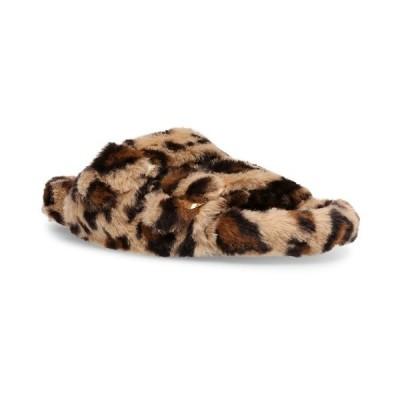 スティーブ マデン サンダル シューズ レディース Women's Around Double-Band Footbed Slippers Leopard
