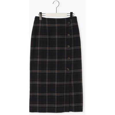 チェックアソートタイトボタンスカート