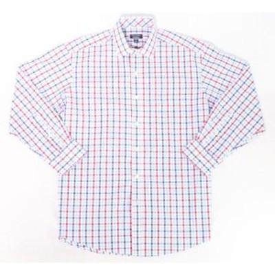 ファッション ドレス Club Room Blue Mens Size 16 1/2 Gingham Regular Fit Dress Shirt