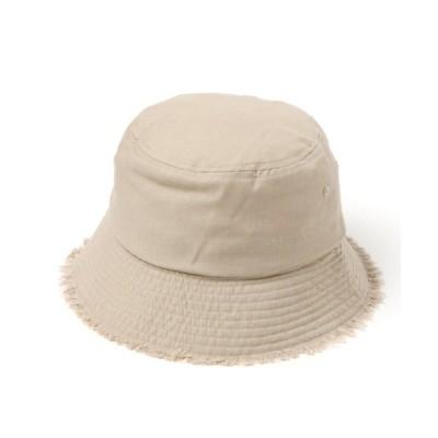 LAKOLE / コットンリネンフリンジバケットハット / 952113 WOMEN 帽子 > ハット