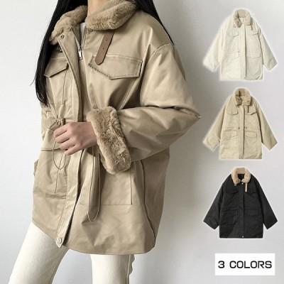 ジャケット コート レディースコート ファーコート 中綿ジャケット 暖かい フェイクフ大人気 ァーコート レディース おしゃれ