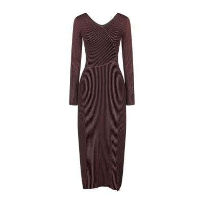 ジャストカヴァリ JUST CAVALLI ロングワンピース&ドレス 赤茶色 XS レーヨン 74% / ポリエステル 21% / ナイロン 5%